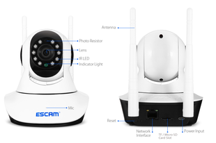 IP kamera LAN+WiFi (ESCAM G02)