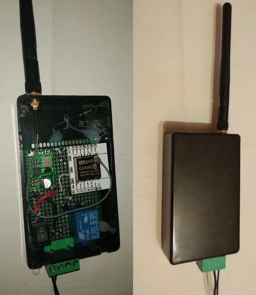WiFi-s kapunyitó relé (DIY)