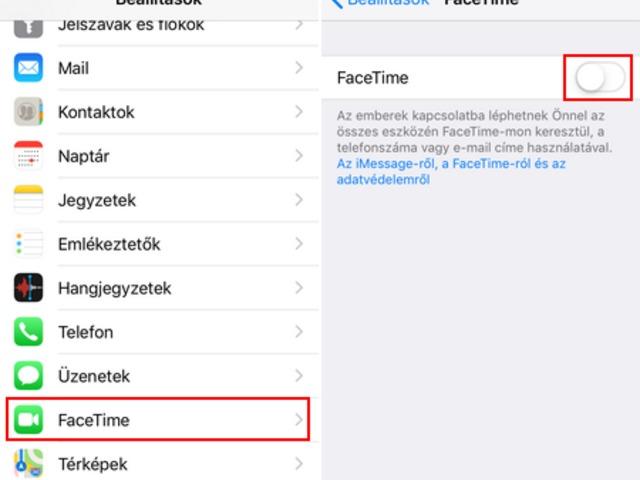 Azonnal ki kell kapcsolni a FaceTime alkalmazást!
