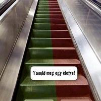Tanuld meg egy életre: a mozgólépcsőn jobbra kell állni!