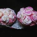 Rózsás céklás cupcake