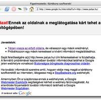 Veszélyes webhely a Pálya.hu?