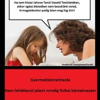 Jehova Tanúi gyermekeinek testi és érzelmi bántalmazásáról