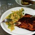 Lazac- és tonhalsült rizottóval