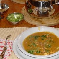 Currys vöröslencse krémleves