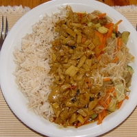Piros gomba curry