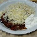 Csilis bab hússal - chilli con carne