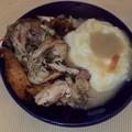 Szülinapi ebéd: Húsleves májgombóccal, sült csirke krumplipürével