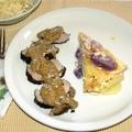 Egyben sült szűzpecsenye mustármártással és burgonya gratinnal