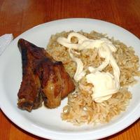 Sörben párolt sült oldalas elrontott rizzsel