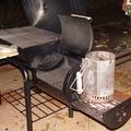 Az első barbeque az offset smokeren (aka mozdony)
