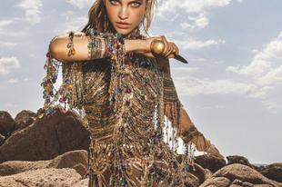 Palvin Barbi harcos amazonként a Numero címlapján