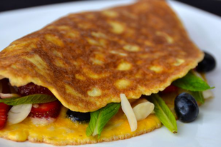 Banános omlett egyszerűen, gluténmentesen