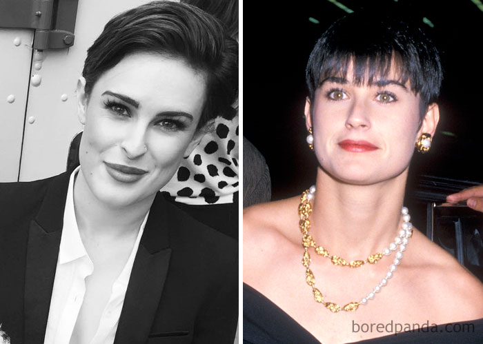 Rumer Willis & Demi Moore
