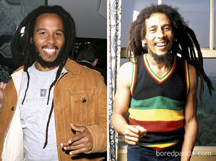 Ziggy Marley és Bob Marley