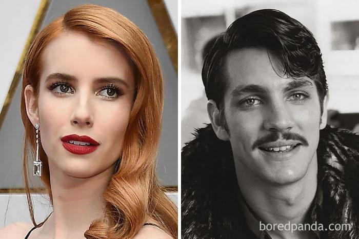 Emma Roberts  és Eric Roberts
