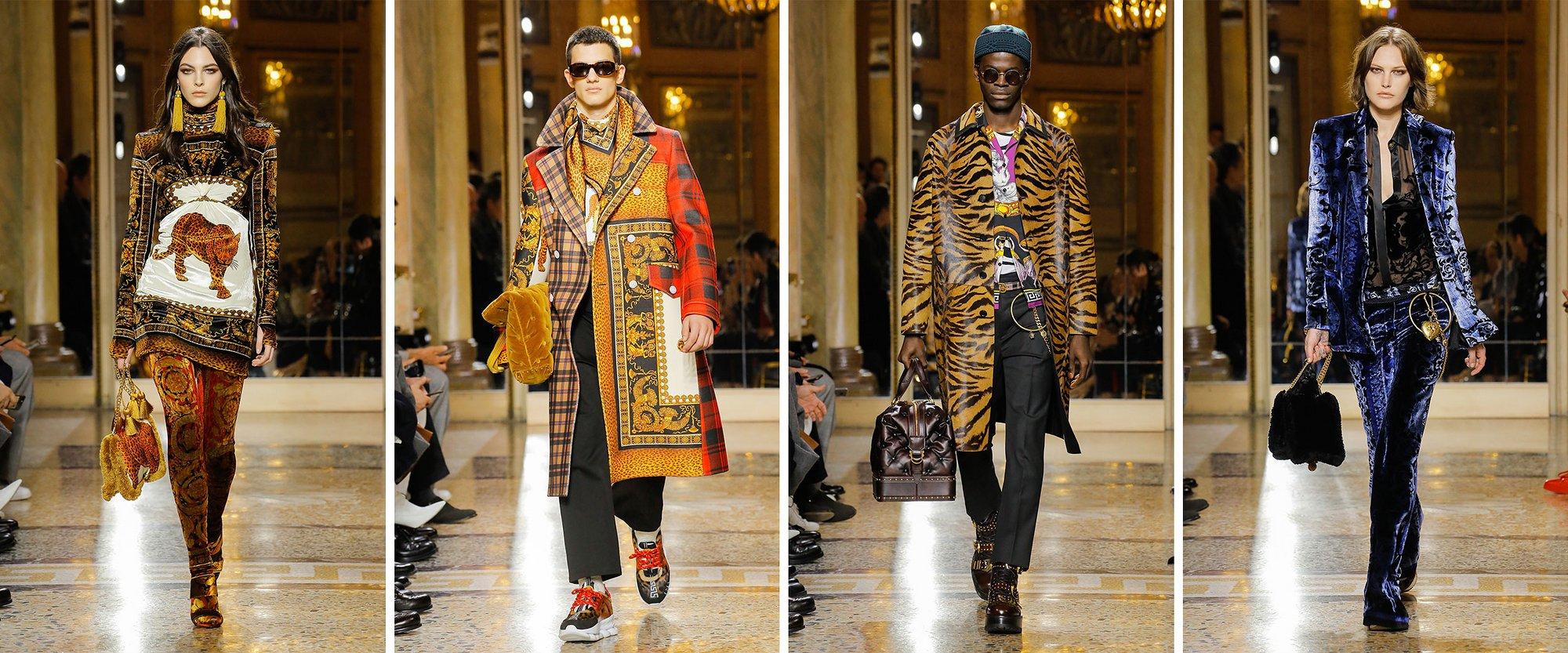 ae08b7af00 A képre kattintva pedig végig tudod görgetni, hogy mit is gondol a Versace divatház  a 2018-as férfi divatról. Helyenként pár női darabbal megspékelve persze ...