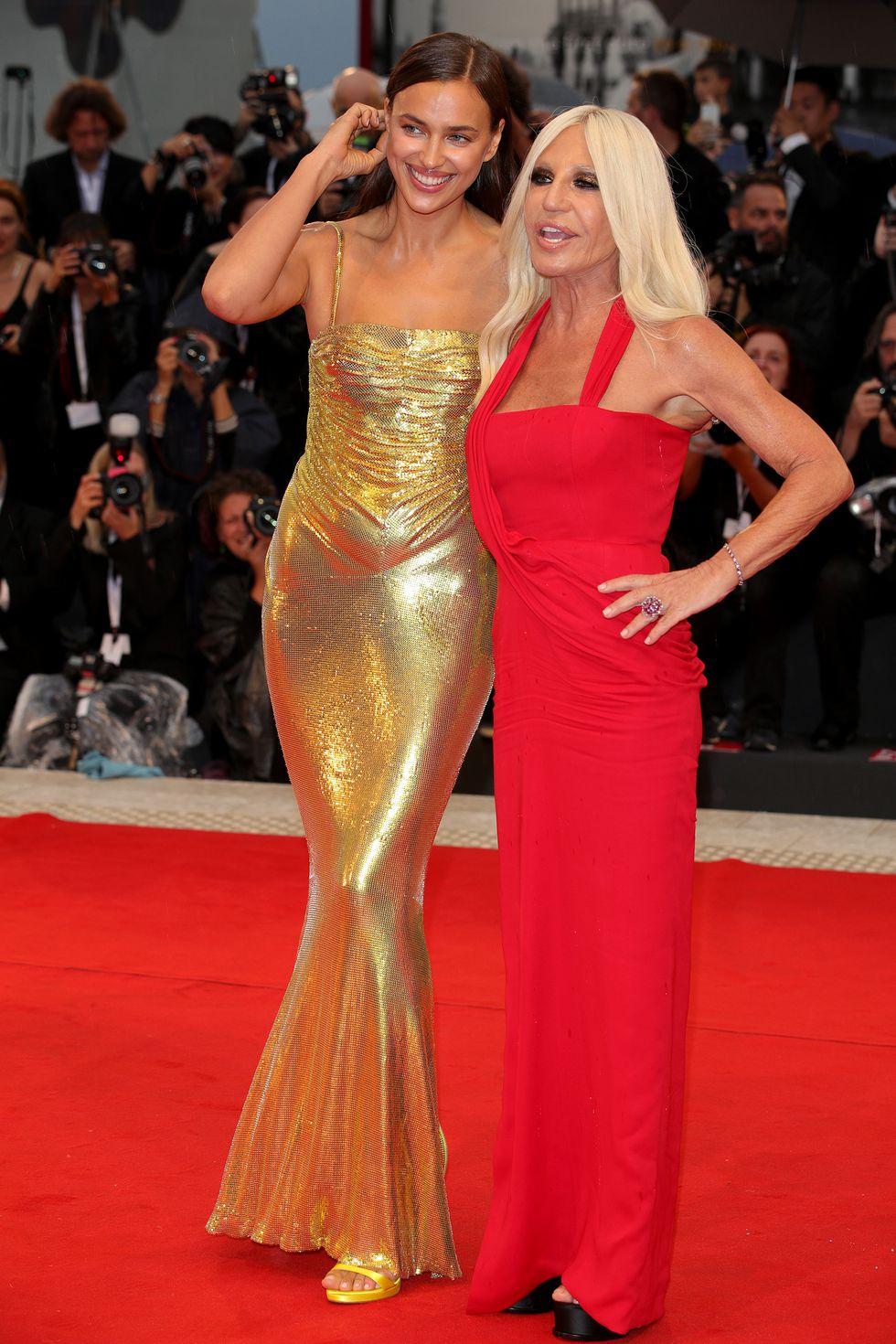 Iryna Shayk & Donatella Versace