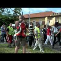 Kiteszik a cigányokat a DVTK stadion mellől