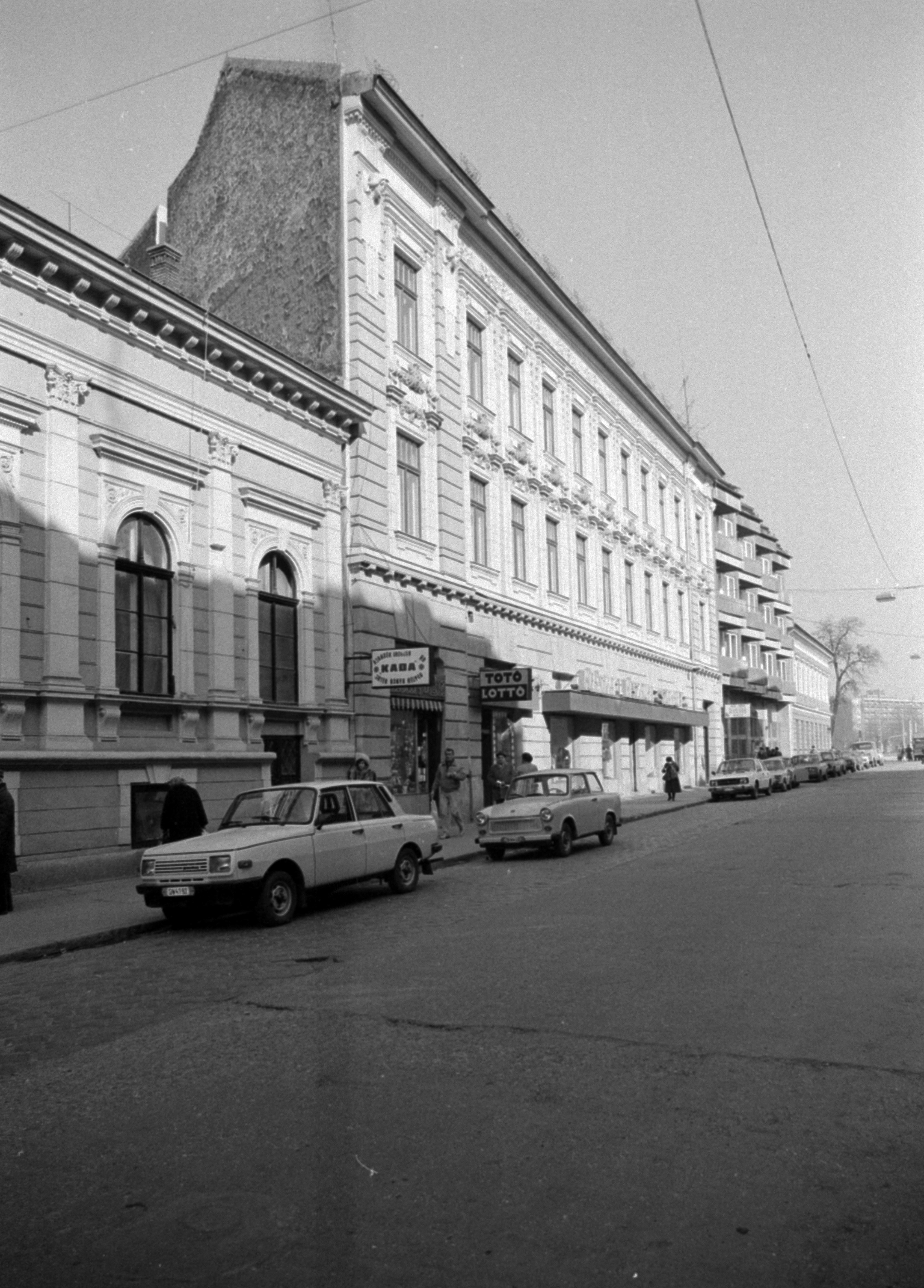 1980. Magyarország, Budapest X. Kőrösi Csoma sétány a Szent László (Pataky István) tér felé nézve.