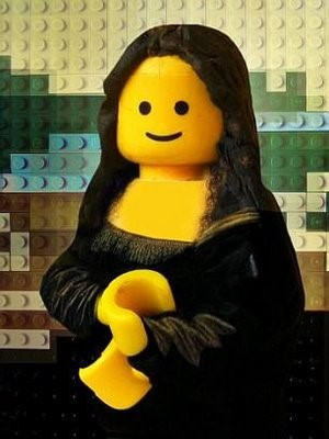 A Lego-Mona Lisa