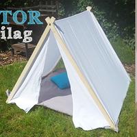 Kerti sátor készítés házilag - olcsón és egyszerűen