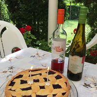 Laza, nyári délután a barátokkal a kertben...egyszer csak megjelent egy torta...szia torta!...nyáminyámi! :)