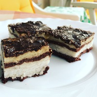 Cukormentes Bounty torta