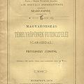 Frivaldszky János: Magyarország téhelyröpűinek futoncféléi (Carabidae)