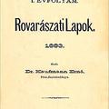 A Rovarászati Lapok története (1883)