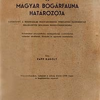 Papp Károly (1943): A magyar bogárfauna határozója.