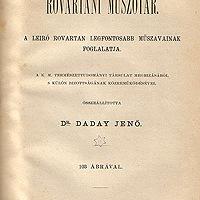 Daday Jenő: Rovartani műszótár. A leíró rovartan legfontosabb műszavainak foglalata.
