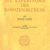Csiki Ernő (1946): Die Käferfauna des Karpaten-Beckens. I. Allgemeiner Teil und Caraboidea.