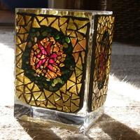 Karácsonyi mécsestartó váza