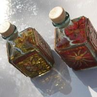 Ecetes-olajos üvegek