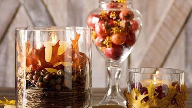 Készíts őszi dekorációt mécsesekkel