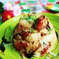 Paradicsomos-csirkés basmati rizottó