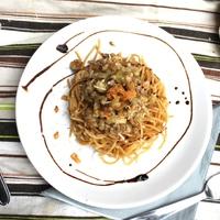 Kéksajtos spagetti extrákkal