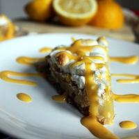 Körtés morzsás pite citromhabbal és citromkrémmel