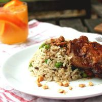 Narancsos csirke rizibizivel és szerelmi vallomással