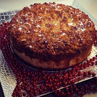 Sajtkrémes-mogyorós karácsonyi torta