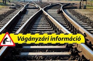FiGYELJEN, HA VONATTAL UTAZIK: Pályakarbantartási munkák miatt máshogy járnak a vonatok