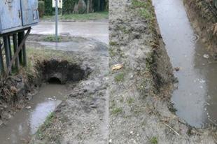 Tök jól elhárították! A Pacsirta-Kanári utcák sarkán most tényleg nincs víz, az utakon!
