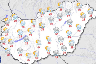 """Hétágra süt a nap, vagy inkább zivatarra készüljünk? Menjünk kirándulni Győrben, vagy akár távolabb? Erre számíthat az időjárás """"Istenétől""""! Na meg az allergiások!"""