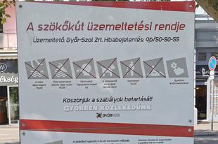 VÁLTOZOTT A VÁROSHÁZI SZÖKŐKÚT ÜZEMELTETÉSI RENDJE? - Humoránál van a Győr-Szol?