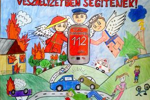 Színes ceruzákkal, zsírkrétákkal, számítógépes grafikákkal és versekkel keltették életre a tűzoltók világát