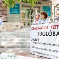Demonstrál a CivilZugló