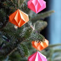 Geometrikus formák, könnyed karácsonyi díszek