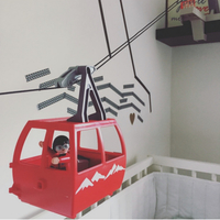Alternatív babaszoba dekor - avagy zenélő forgó helyett csendes felvonó