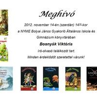 Bosnyák Viktória író-olvasó találkozó
